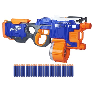 ... the loud sound of the motor will give away your whereabouts, but  hopefully your bullets will land first since this is the fastest firing nerf  blaster.